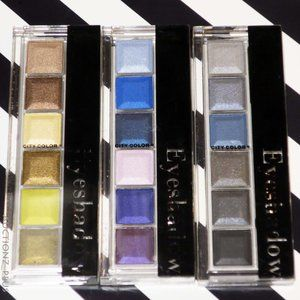 x3 CITY COLOR Eye Shadow 6 Color Palette Lot